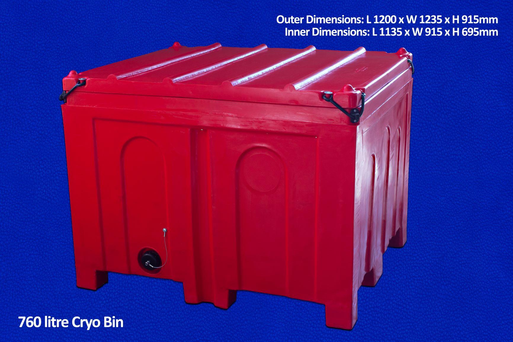 760 litre cryo bin
